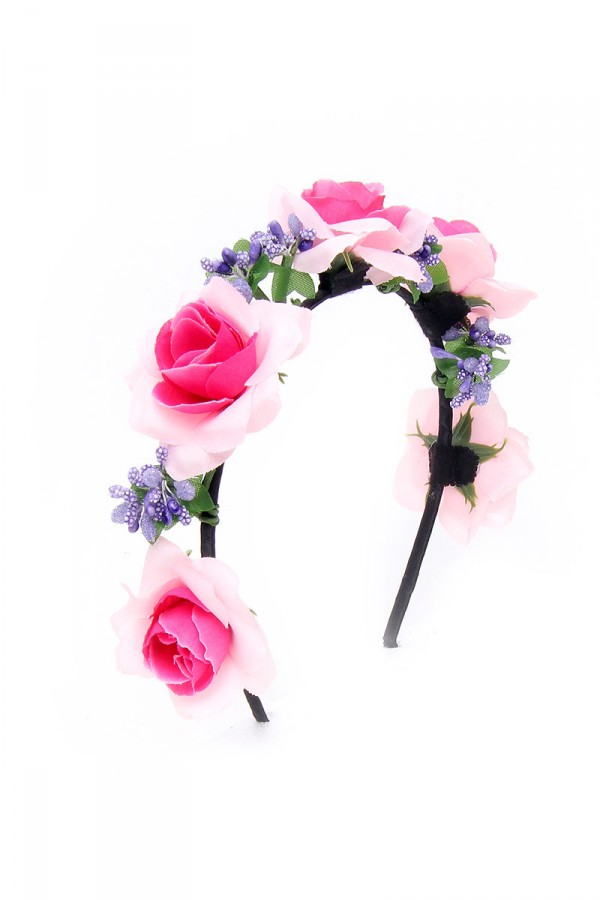 Diadem Med Blommor - Rose And Lilac