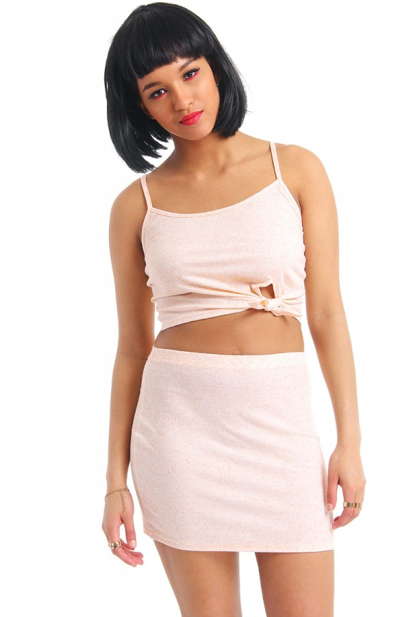 Ribbed Pink Set - Dense