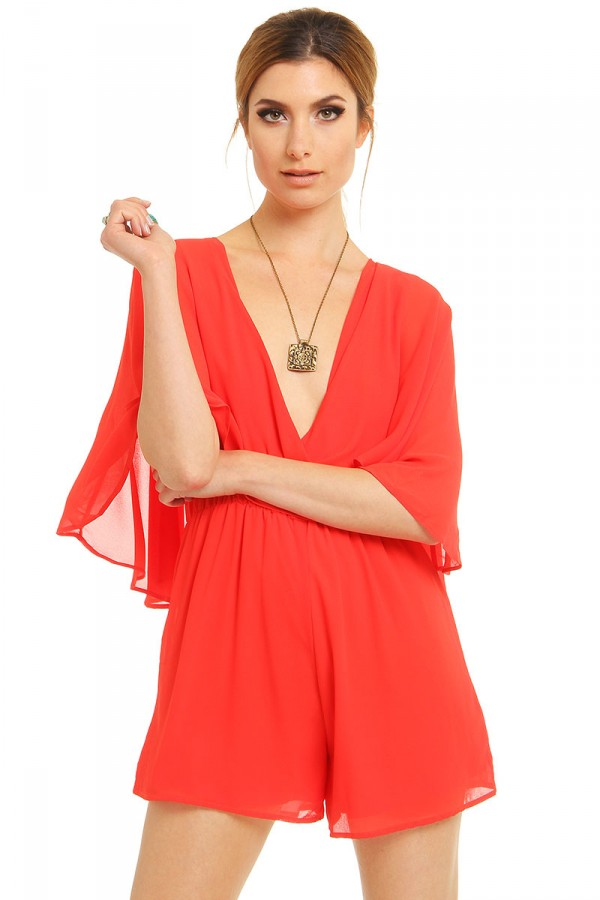 Korallröd Jumpsuit - Perfect Coral