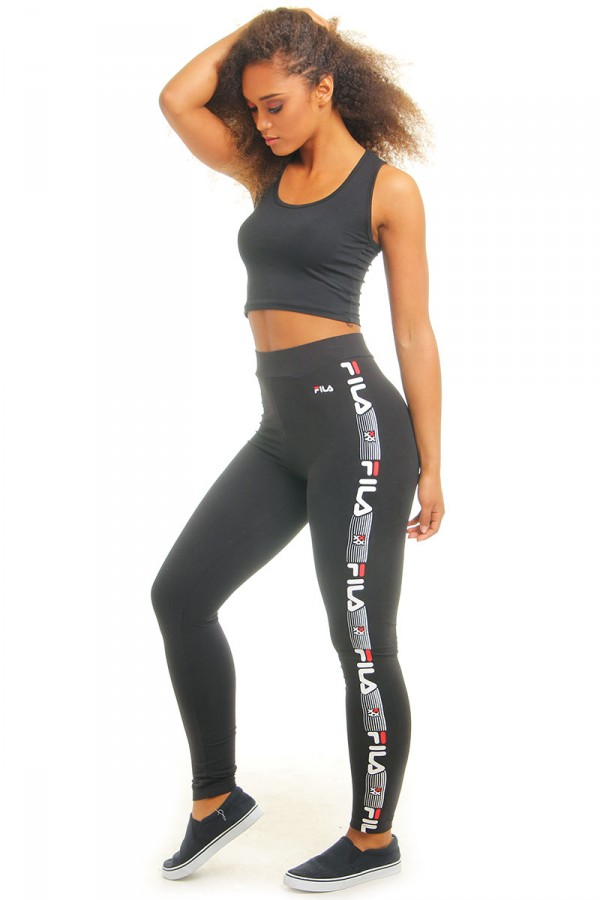 Svarta Leggings - T-Boz Side Print