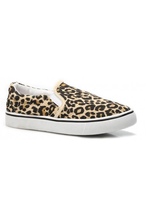 Leopardmönstrade Slip-On Skor - Caty