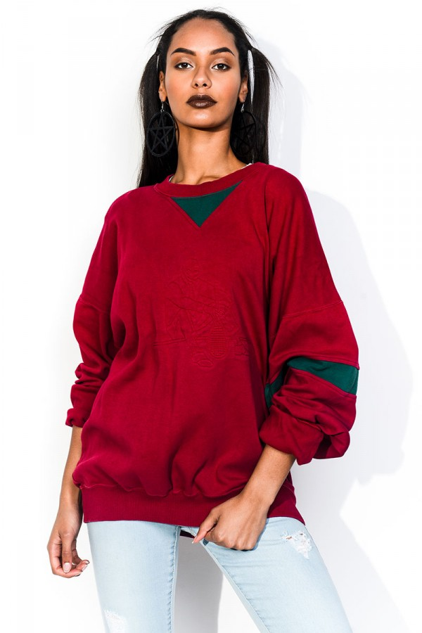 Vintage Sweatshirt - Red Retro