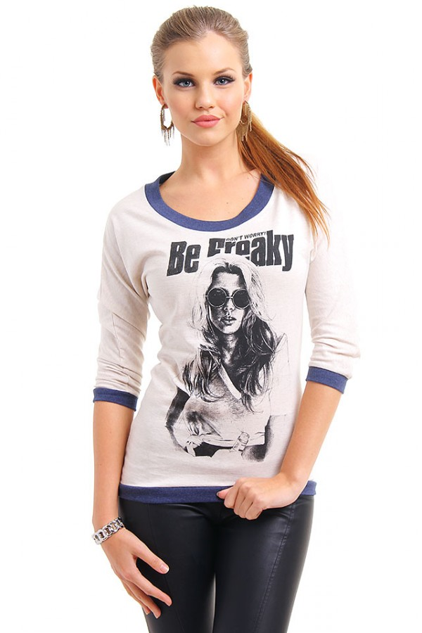 Beige Tröja - Don't Worry Be FREAKY!