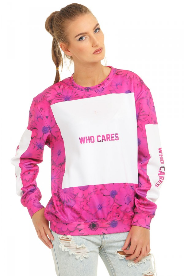 Sweatshirt Med Tryck - Pink Obsession