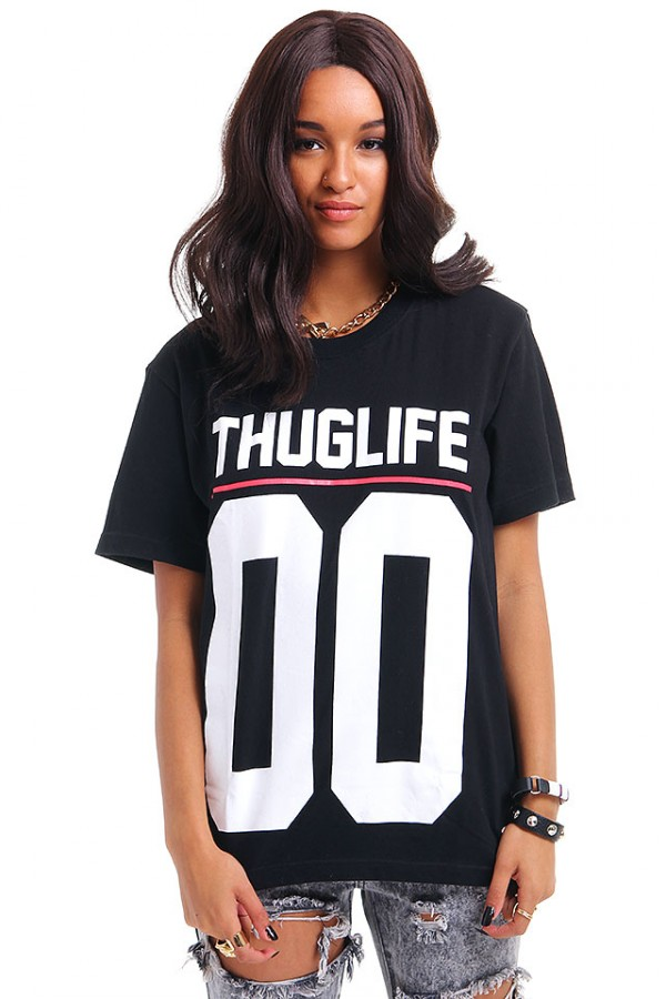 T-Shirt Med Tryck - THUGLIFE