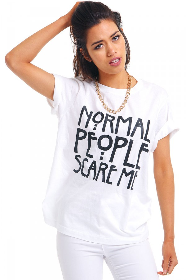 Vit T-Shirt - Normal People Scare Me