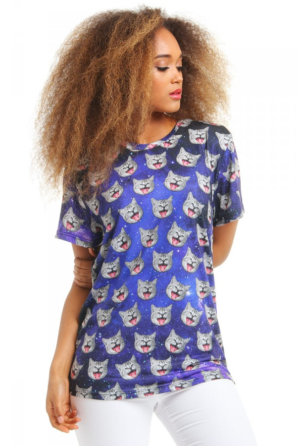 Cool T-Shirt - Space Cat