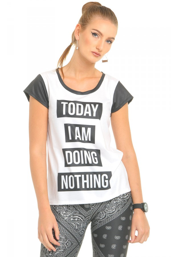 T-Shirt Med Tryck - Doing Nothing