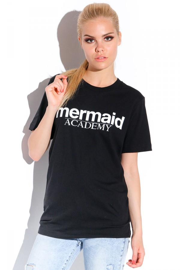 Svart T-shirt - Mermaid