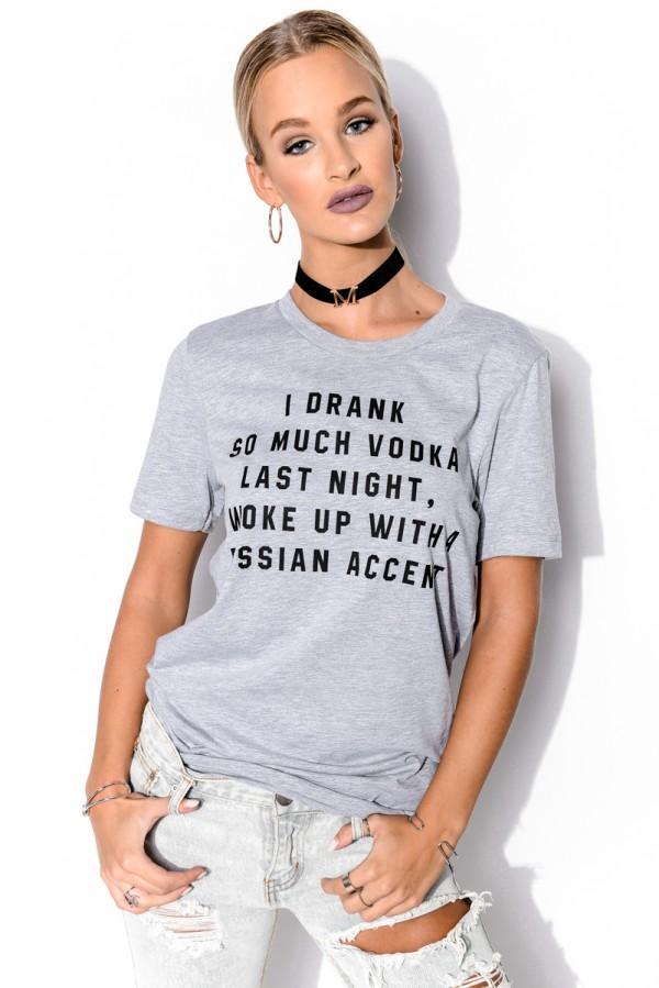 Grå T-Shirt - Russian Accent