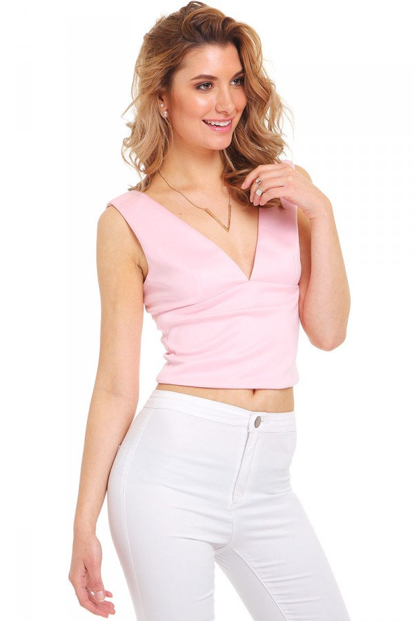 Rosa Crop Topp - Sugar