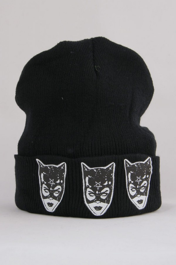 Svart Beanie - Cat Woman