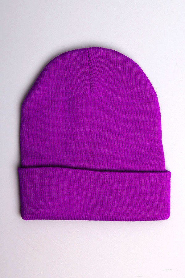 Mörklila Beanie - Purple Night