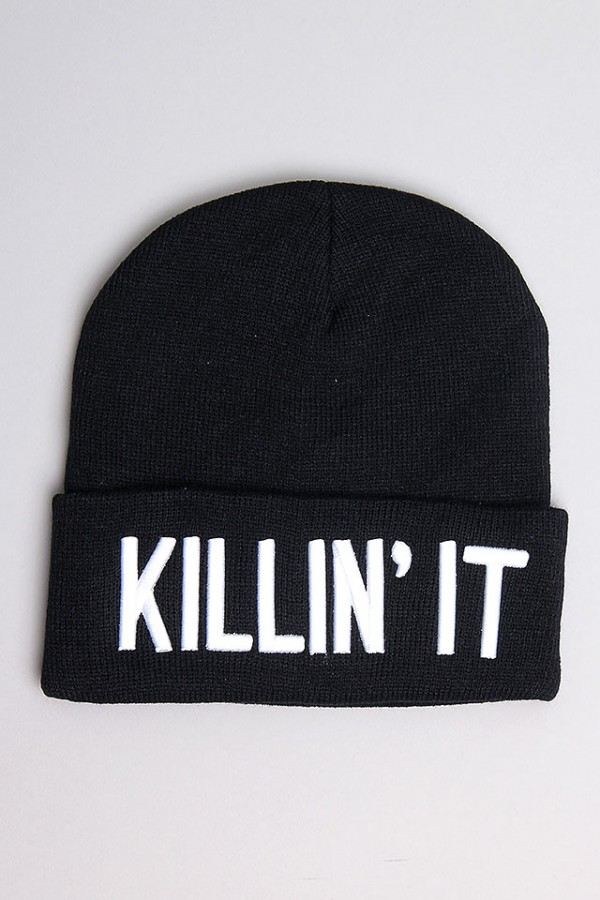 Svart Beanie - Killin It