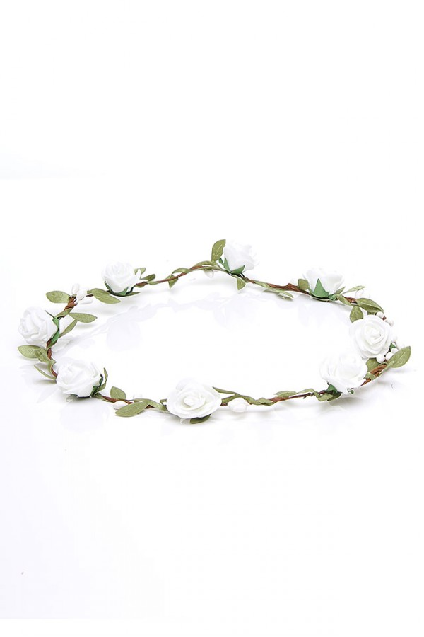 Krans Med Blommor - Simple White