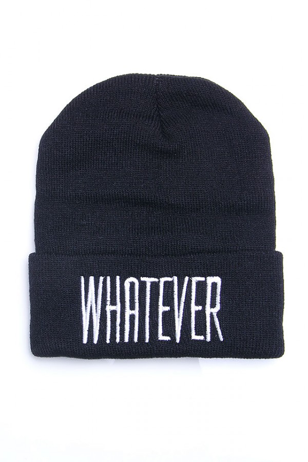 Svart Beanie - Whatever