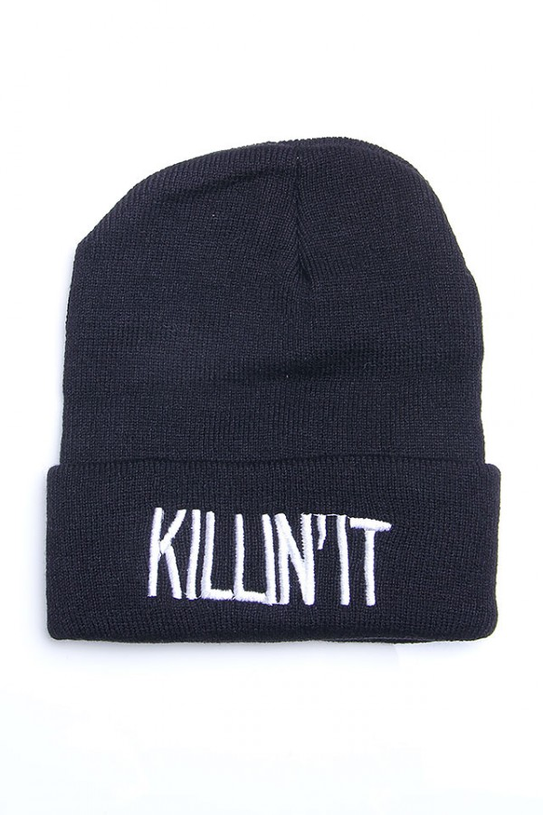 Svart Beanie - Killin'It