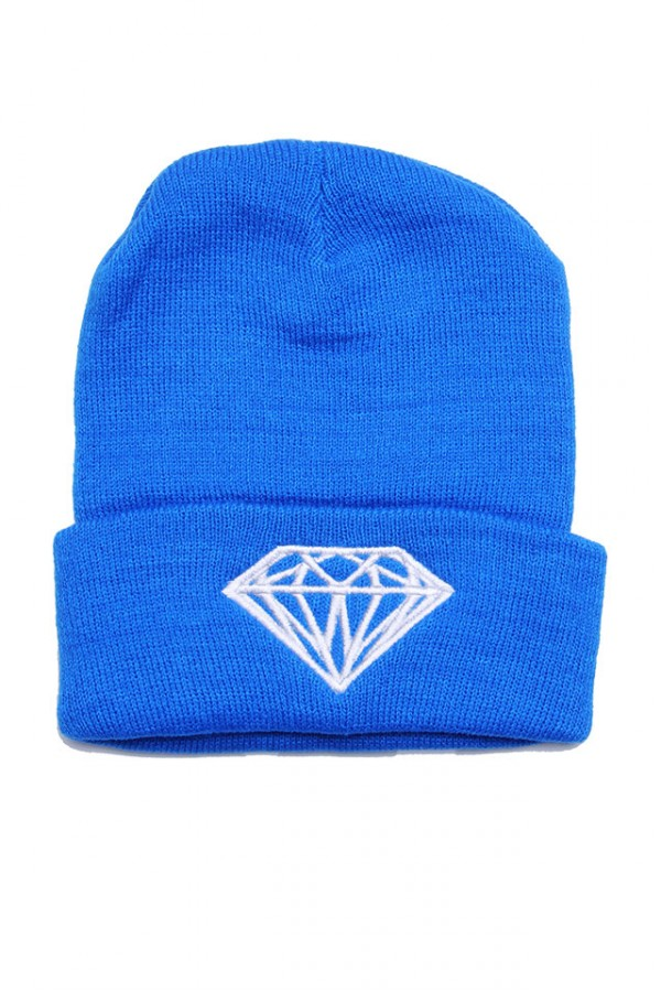 Blå Beanie - Blue Diamond