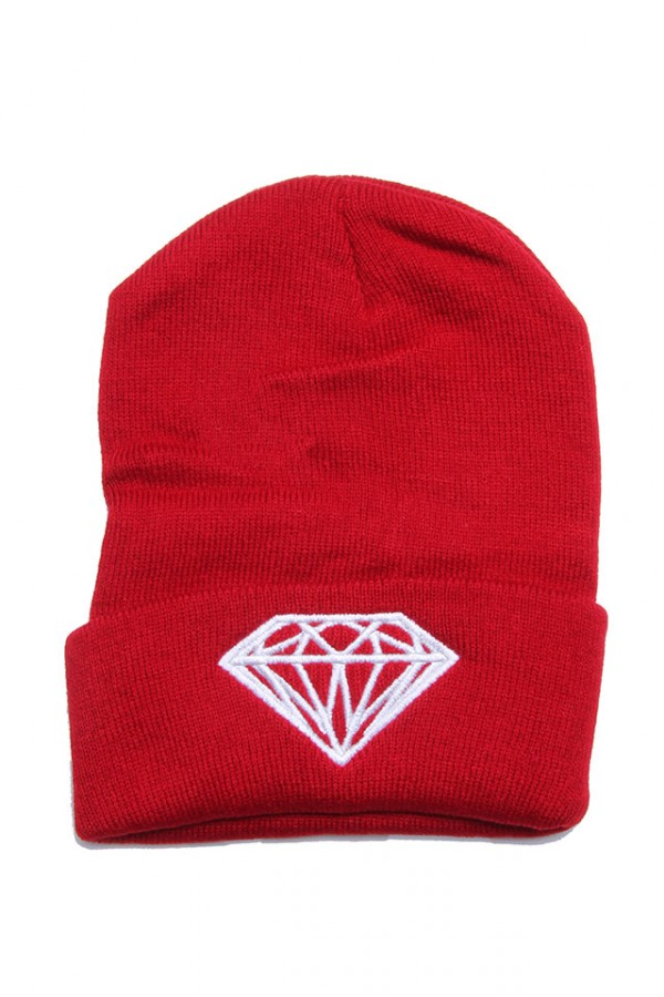 Vinröd Beanie - Ruby Diamond
