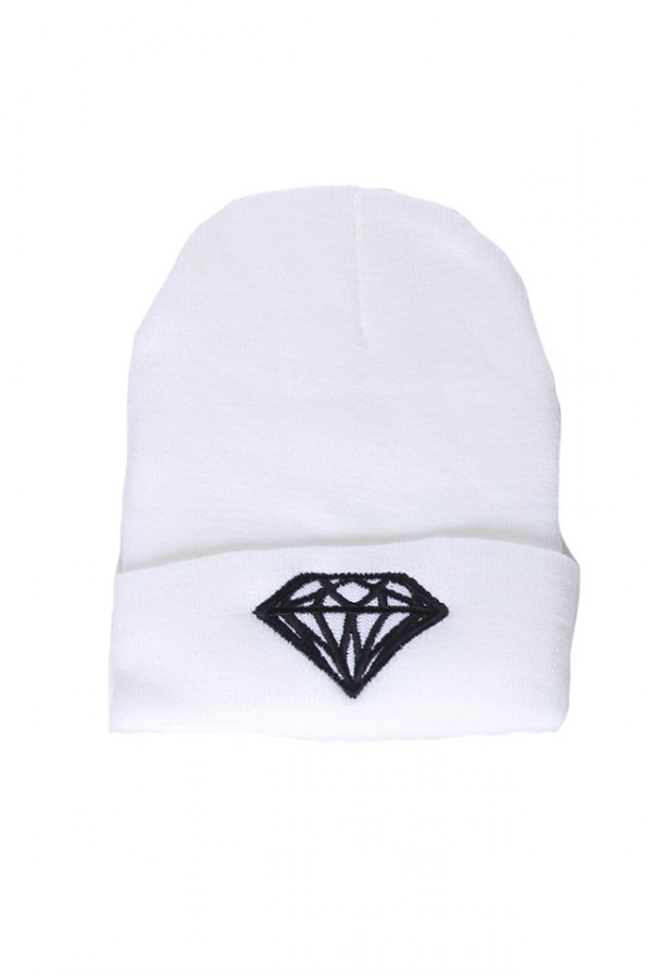 Vit Beanie - White Diamond