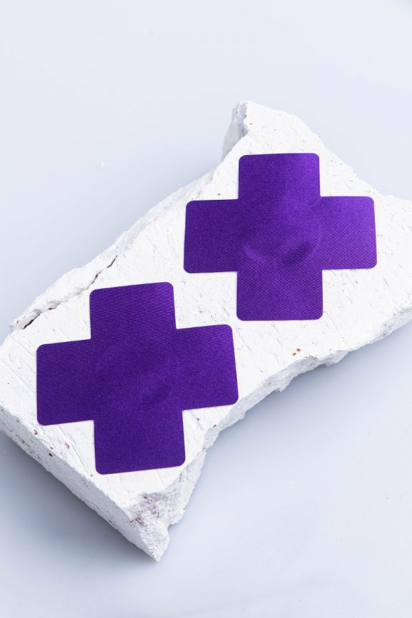 Nipple Covers - Purple Cross