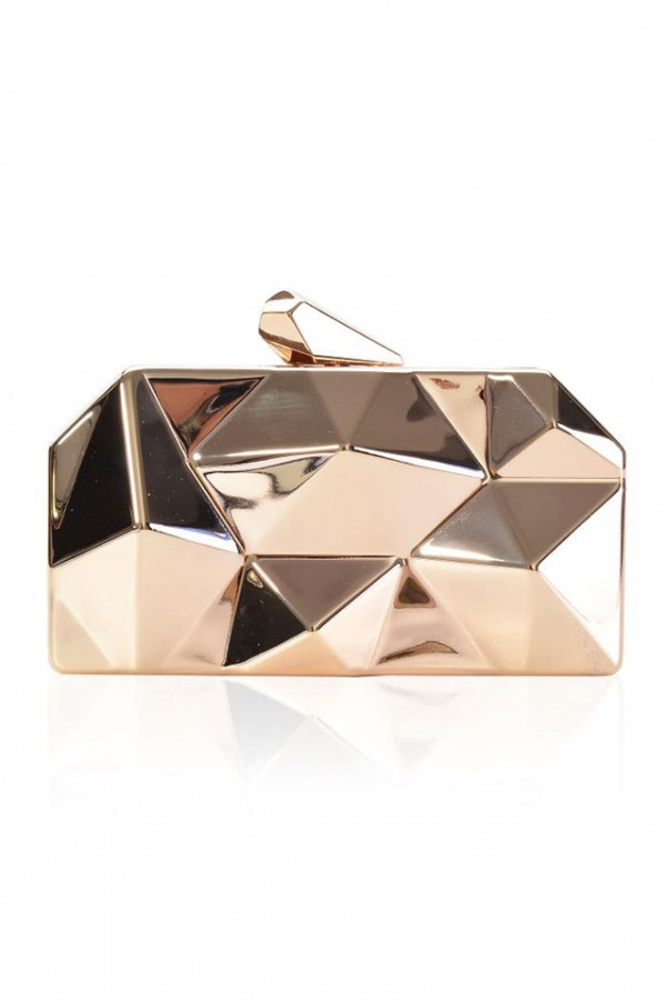 Festväska - Gold Metal Clutch