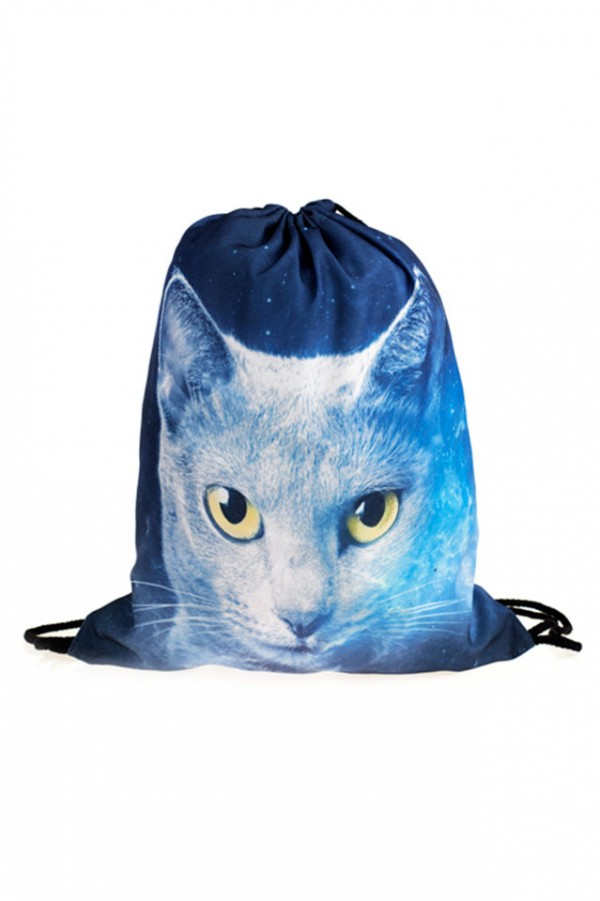 Drawstring Bag - Space Cat