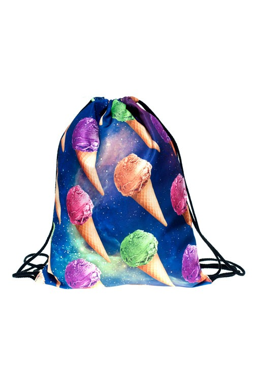 Drawstring Bag - Space Ice Cream