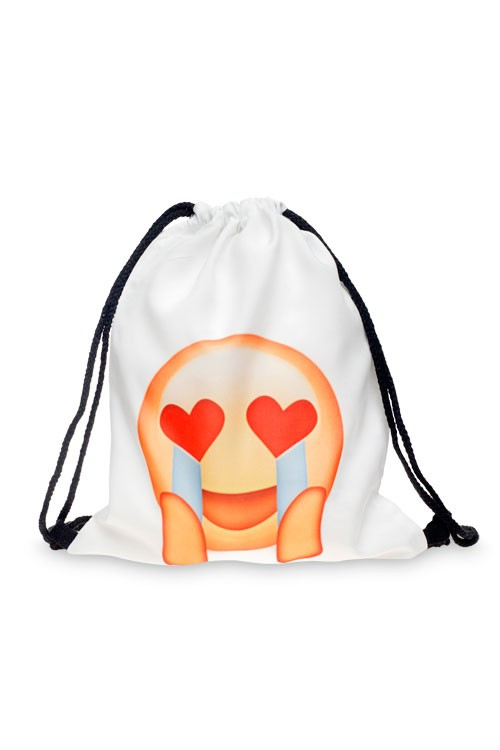 Drawstring Bag - Emoji Love