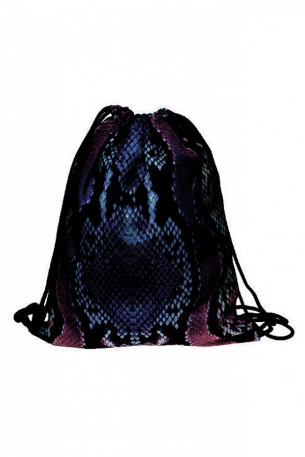 Drawstring Bag - Rainbow Snake