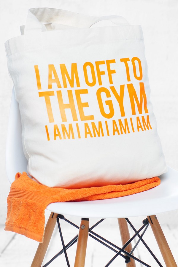 Orange Gymbag - I Am Off To The Gym