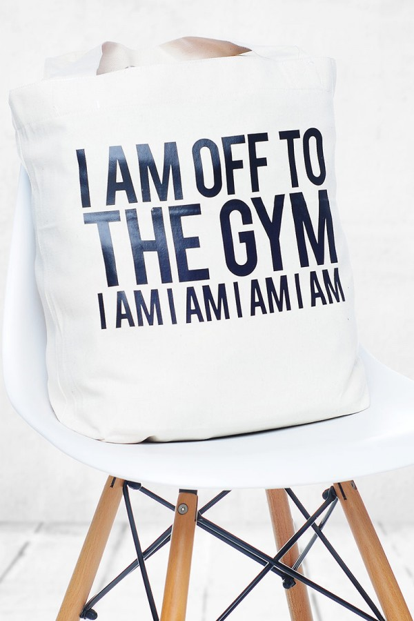 Svart Gymbag - I Am Off To The Gym