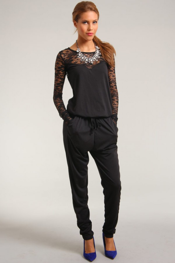 Sisters Point - Svart Jumpsuit - Lacy Rose