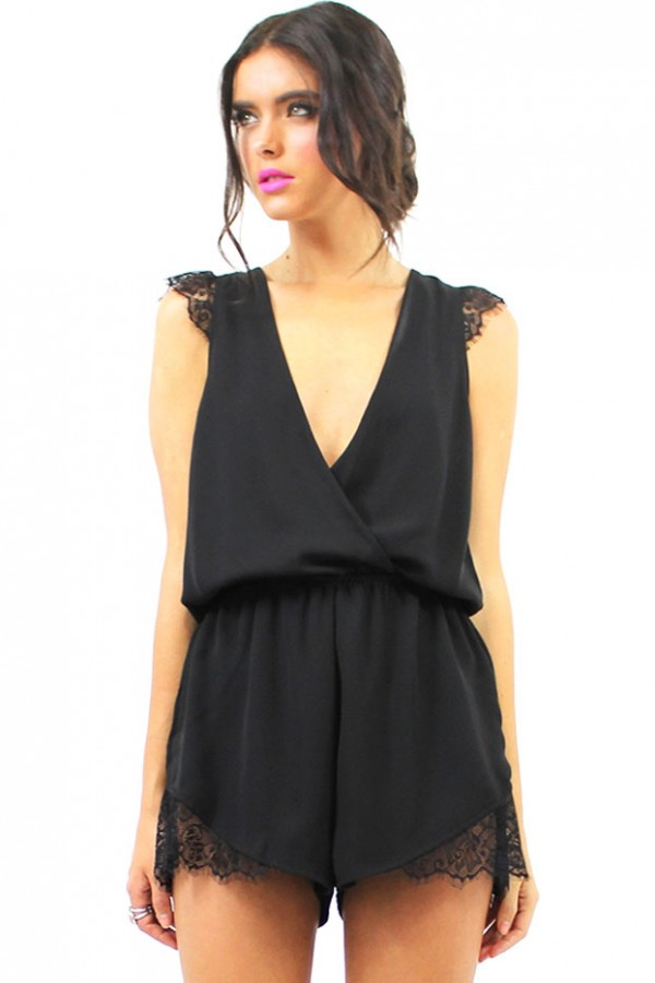 Svart Jumpsuit - Crystalized Black