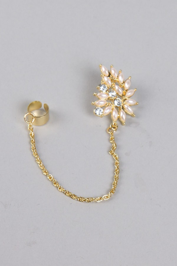 Earcuff - Pearls And Glitter