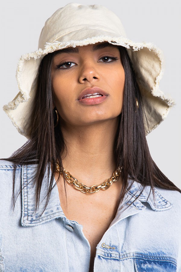 Frayed Edge Bucket Hat