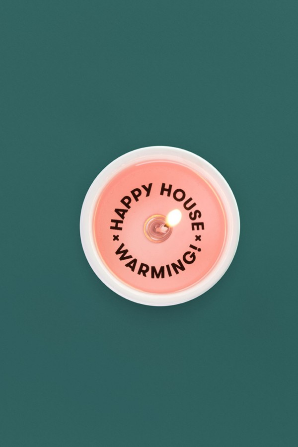 Happy House Warming - Message Candle