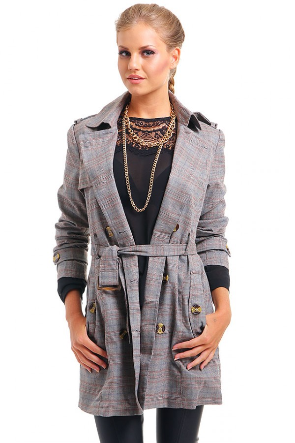 Rutig Trenchcoat - Check