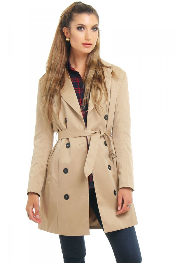 Ljusbrun Trench Coat - Sienna