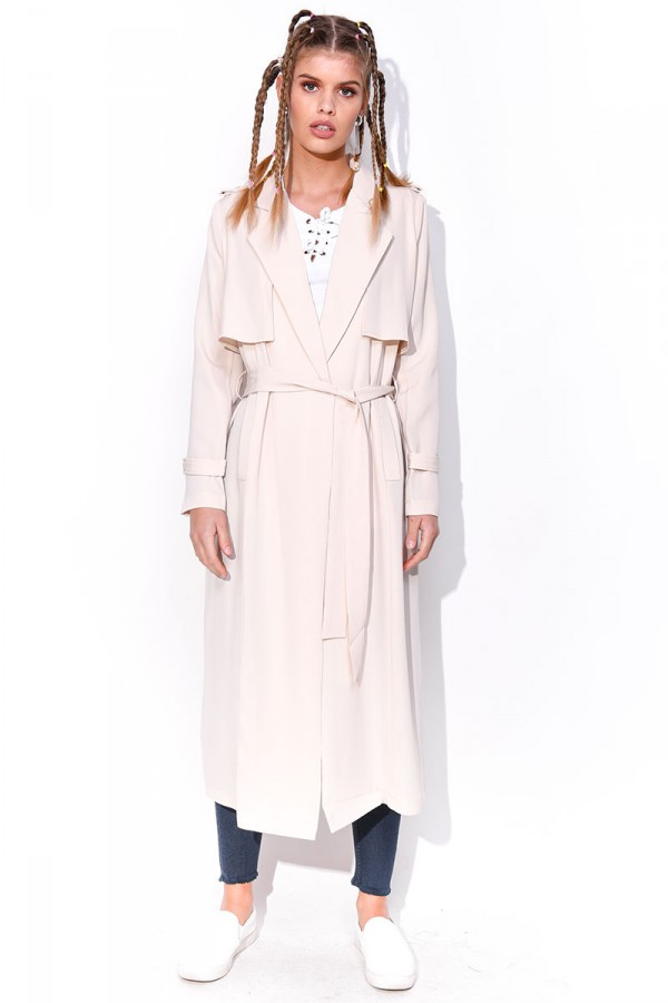 Beige Trench Coat - Pearl