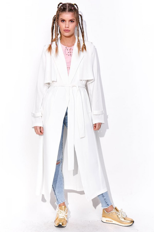 Vit Trench Coat - Ice