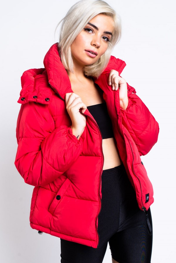 Puffa Jacka - Oversized Down Jacket Red