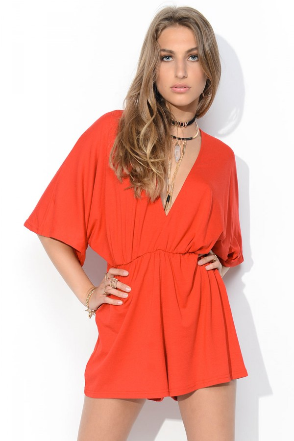 Jumpsuit - Rose Red