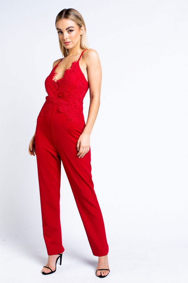 Jumpsuit - Kylie Red