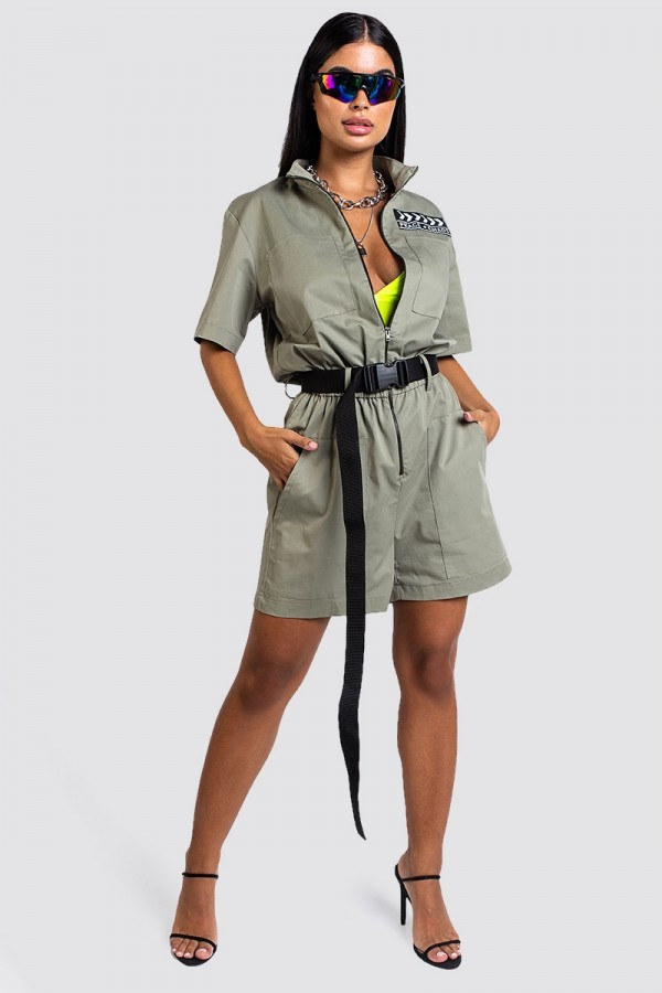 Playsuit - Olive Peace + Chaos
