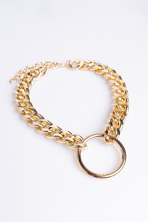 Halsband - Chained Circle Gold
