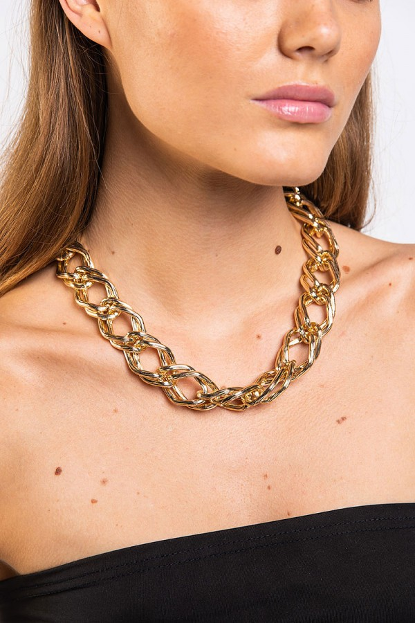 Halsband - Thick Rough Gold