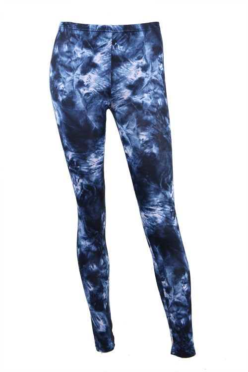 Dip Tied Leggings - Blue Mess
