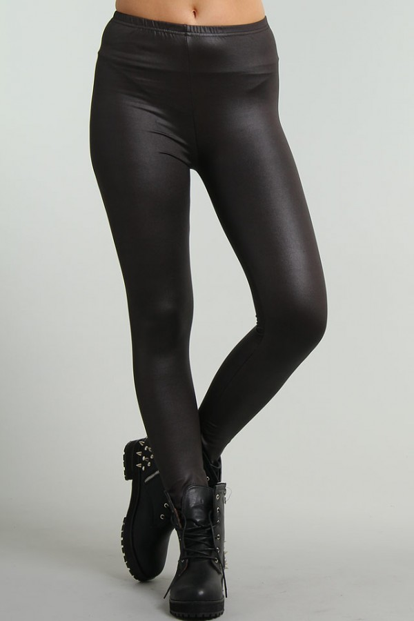Glansiga Leggings - Elin - REA