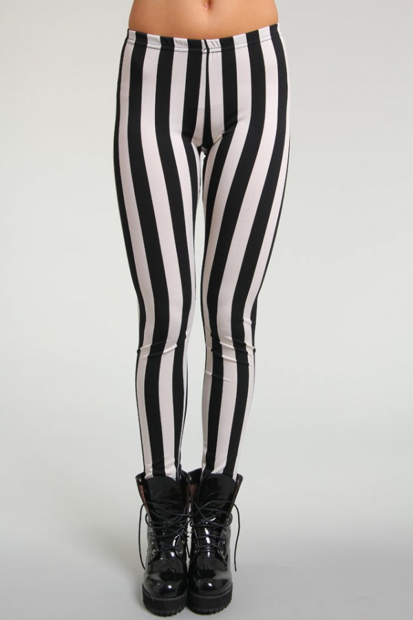 Randiga Leggings - Vertical Stripes